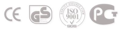 Стандарты CE, GS, ISO 9001, PCT